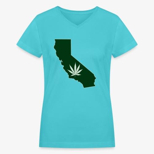 weed - Women's V-Neck T-Shirt