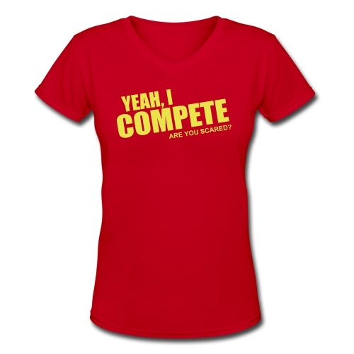 compete - Women's V-Neck T-Shirt