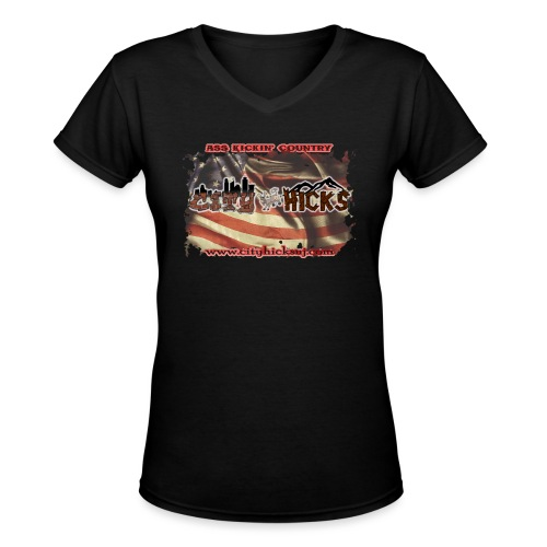HicksFlag - Women's V-Neck T-Shirt