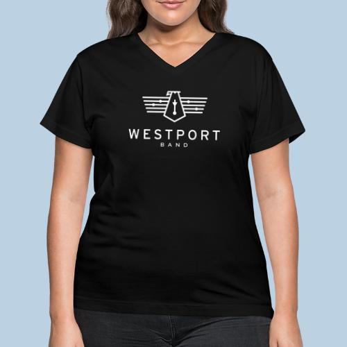 Westport Band White on transparent - Women's V-Neck T-Shirt