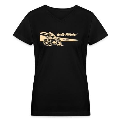 LESLIEVILLAIN CAFE 2 - Women's V-Neck T-Shirt
