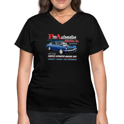 ProAutoTeeDesign062317fin - Women's V-Neck T-Shirt