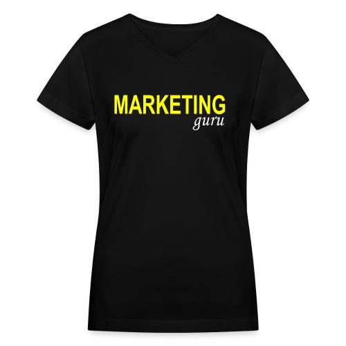 Marketing Guru - Women's V-Neck T-Shirt