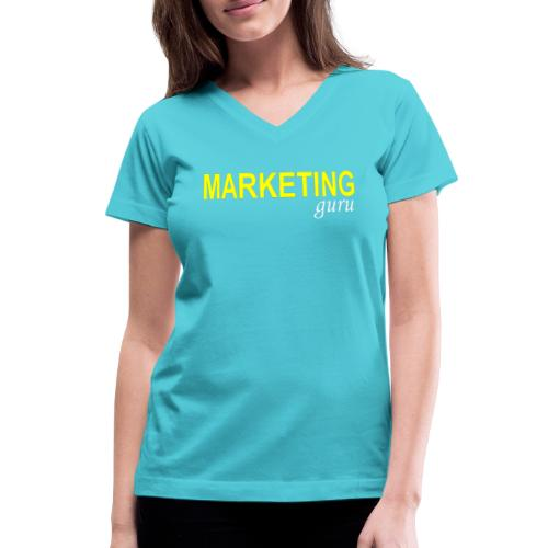 Marketing Guru - Women's V-Neck T-Shirt