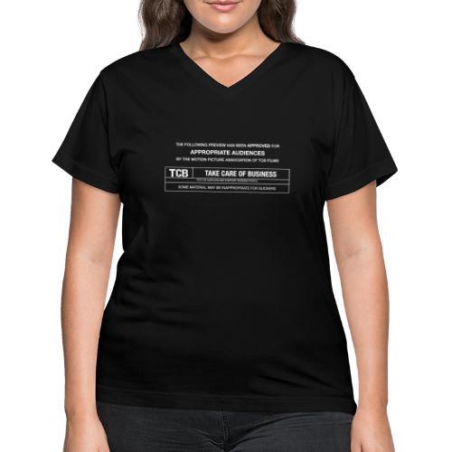 TCB Films Disclamer - Women's V-Neck T-Shirt