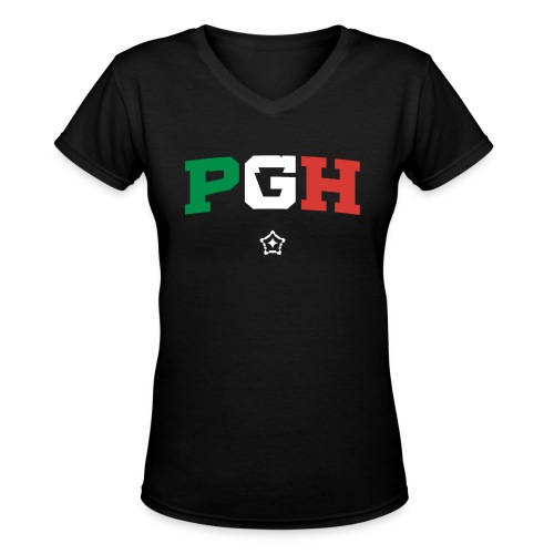 PGH_Italy - Women's V-Neck T-Shirt