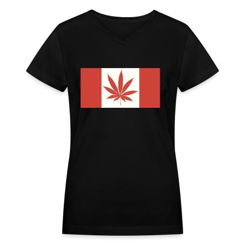 Canada 420 - Women's V-Neck T-Shirt