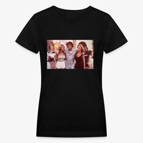 Hugh Hefner - Women's V-Neck T-Shirt
