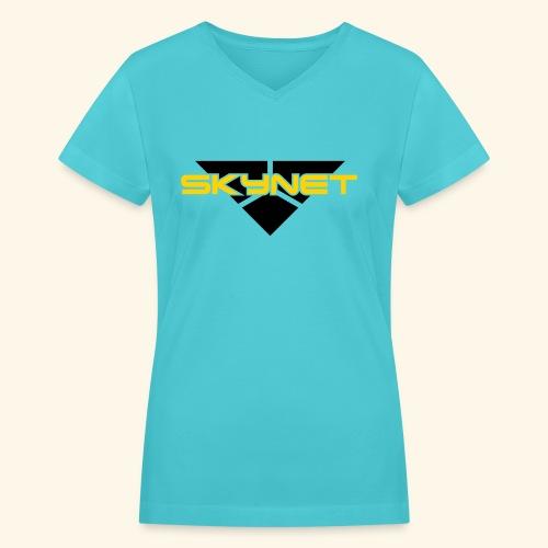 Skynet - Women's V-Neck T-Shirt