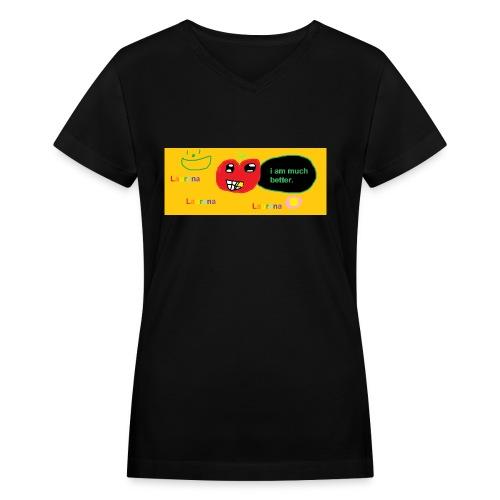 pechy vs apple - Women's V-Neck T-Shirt