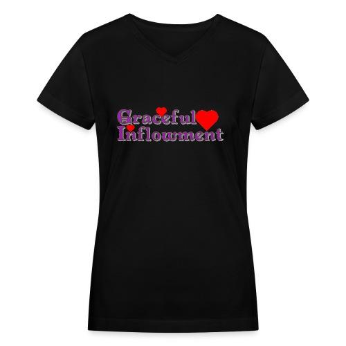 Graceful Inflowment - Women's V-Neck T-Shirt