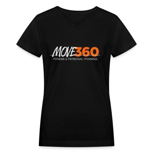 Move360 Logo LightGrey - Women's V-Neck T-Shirt