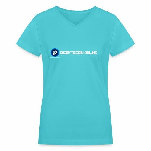 Digibyte online light - Women's V-Neck T-Shirt