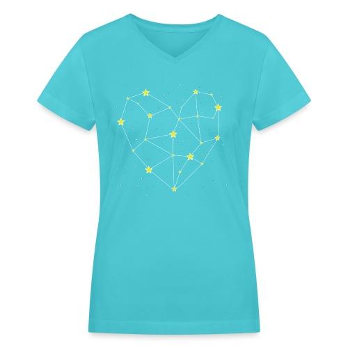 Heart in the Stars - Women's V-Neck T-Shirt