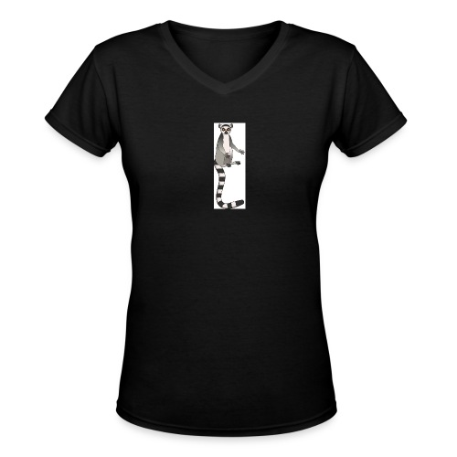 John Cleese Lemur - Women's V-Neck T-Shirt