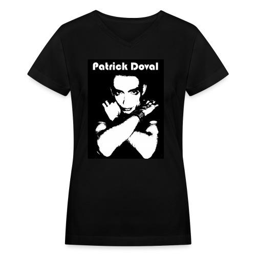 Patrick Doval Logo - Women's V-Neck T-Shirt