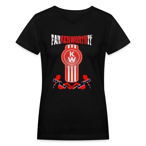 Farkenworthit Rebel png - Women's V-Neck T-Shirt