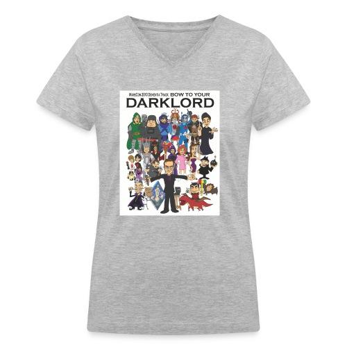 marscon2010tshirtfrontupload - Women's V-Neck T-Shirt