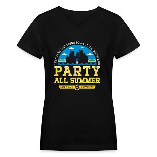party all summer - Women's V-Neck T-Shirt