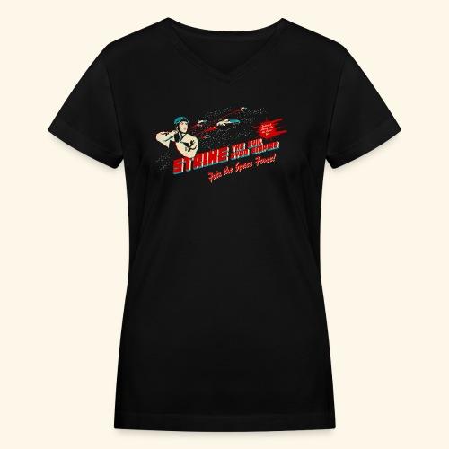 Join the Space Force (darkshirt) - Women's V-Neck T-Shirt