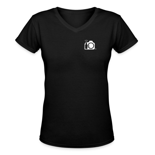 White Transparent No Initials Logo ONly png - Women's V-Neck T-Shirt