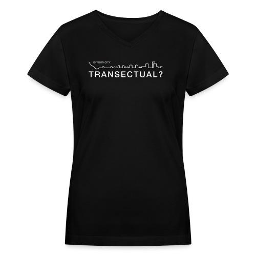 TransectLogo - Women's V-Neck T-Shirt