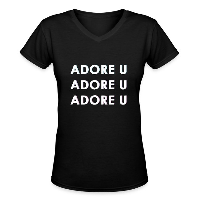 adore u typography png
