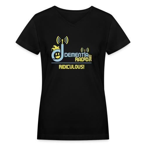 dementiaradiotshirt edit - Women's V-Neck T-Shirt