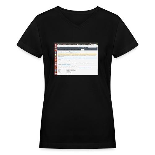 Screenshot from 2016 09 07 02 14 53 - Women's V-Neck T-Shirt
