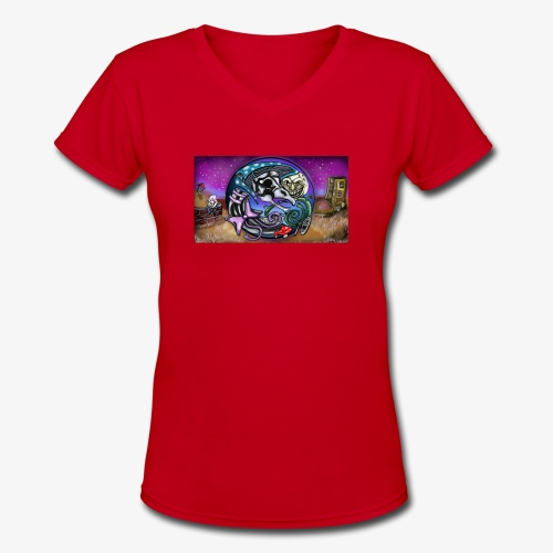 Mother CreepyPasta Land - Women's V-Neck T-Shirt