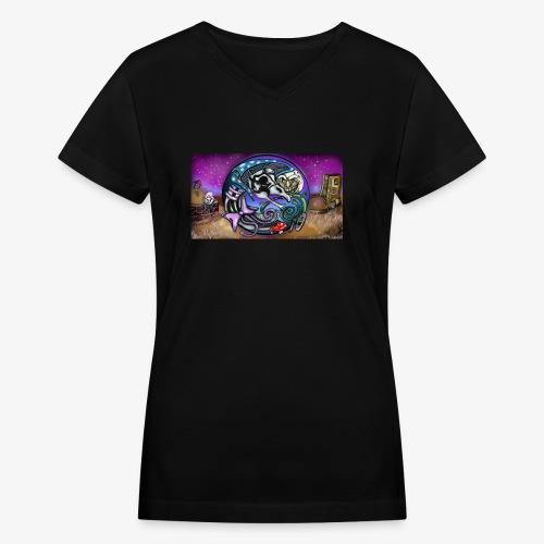 Mother CreepyPasta Land - Women's V-Neck T-Shirt