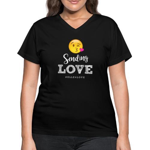 Sending Love - Women's V-Neck T-Shirt