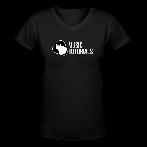 Music Tutorials Logo - Women's V-Neck T-Shirt