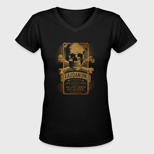 Laudanum Goth Steampunk Medical Doctor - Women's V-Neck T-Shirt