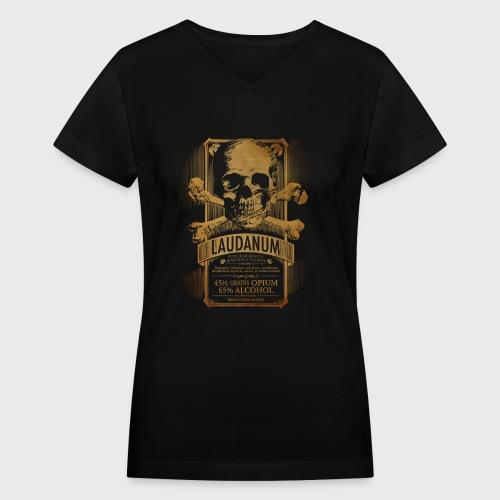 Laudanum Goth Steampunk Medical Doctor - Women's V-Neck T-Shirt