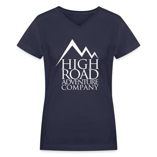High Road Adventure Company Logo - Women's V-Neck T-Shirt