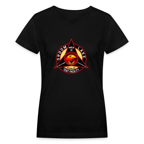 THE AREA 51 RIDER CUSTOM DESIGN - Women's V-Neck T-Shirt