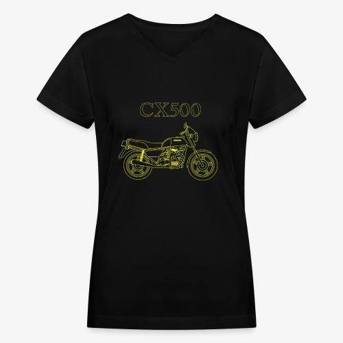 CX500 line drawing - Women's V-Neck T-Shirt
