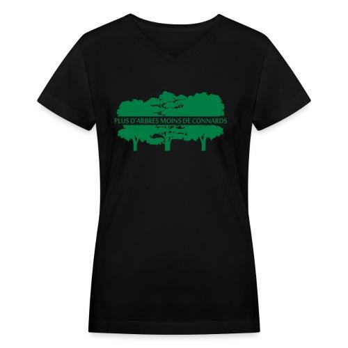 mtla fr - Women's V-Neck T-Shirt