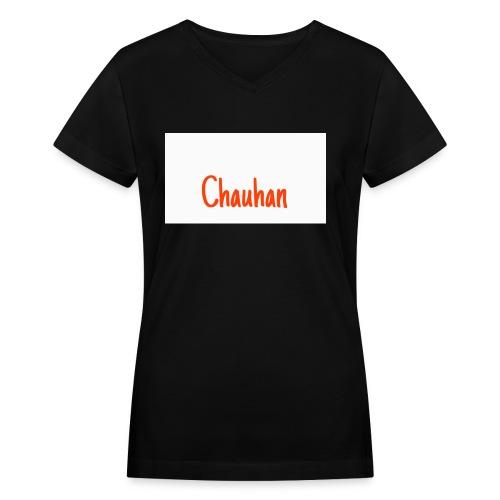 Chauhan - Women's V-Neck T-Shirt