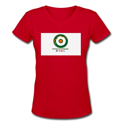 David Doyle Arts & Photography Logo - Women's V-Neck T-Shirt