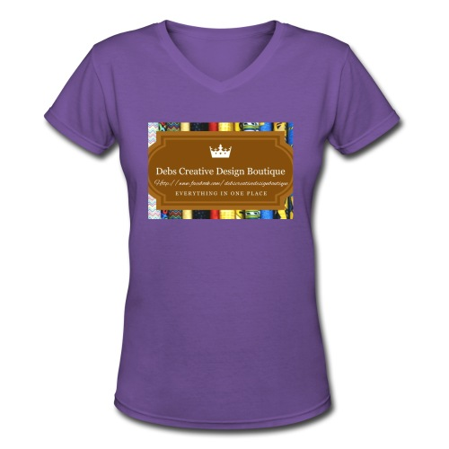 Debs Creative Design Boutique with site - Women's V-Neck T-Shirt