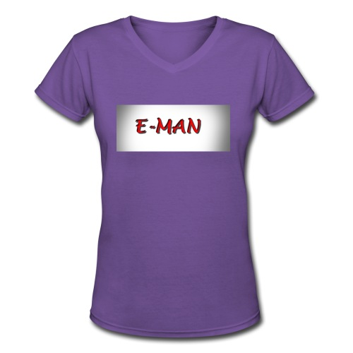 E-MAN - Women's V-Neck T-Shirt