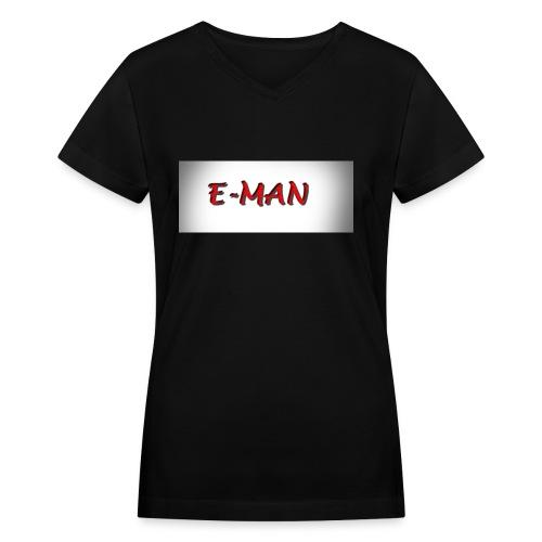 E-MAN - Women's V-Neck T-Shirt
