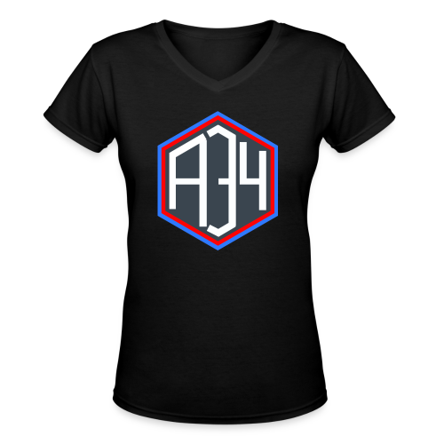 Adrian 34 LOGO - Women's V-Neck T-Shirt