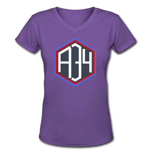 Adrian 34 LOGO - Women's V-Neck T-Shirt