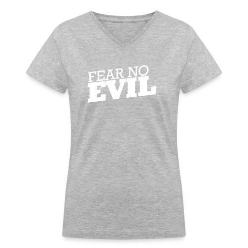 fear no front - Women's V-Neck T-Shirt