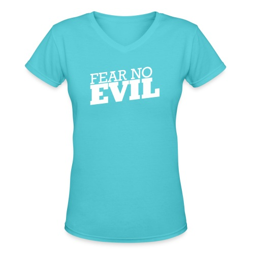fear no front - Women's V-Neck T-Shirt