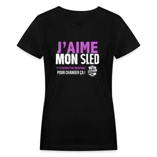 FILLES2 png - Women's V-Neck T-Shirt