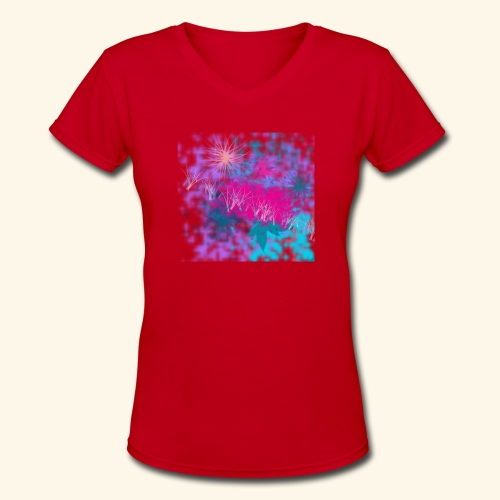 Abstract - Women's V-Neck T-Shirt